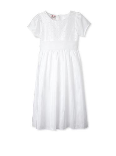 Jellybean of Miami Girl's Plus Size Communion Dress (White)