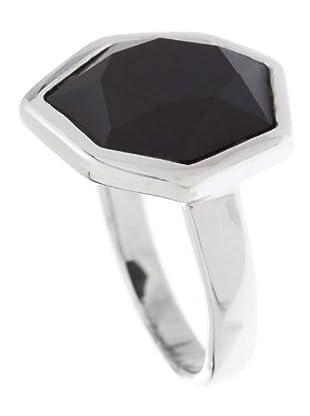 Luxenter 6019B751 - Anillo Kundi de plata (negro)