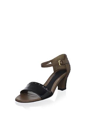 MARNI Women's Spectator Sandal (Coal/Cinnamon)