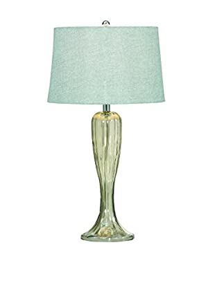 Bassett Mirror Company Gable Table Lamp, Shaped Glass