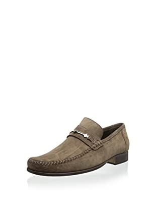 Bruno Magli Men's Pittore Loafer with Bit and Cross-Stitch Vamp