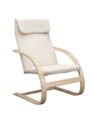 Niche Mia Reclining Bentwood Chair, Natural/Beige