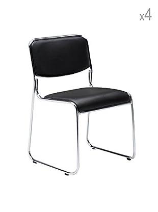Tomasucci 4er Set Stühle Match schwarz