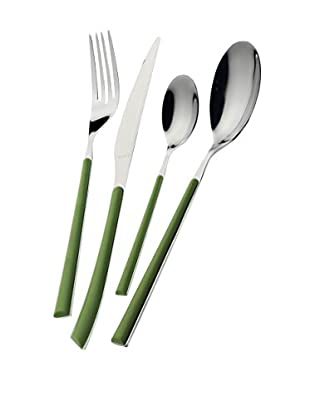 Casa Bugatti Stella 24-Piece Flatware Set, Green