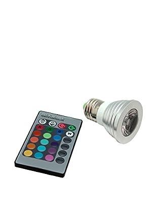 Unotec Glühbirne LED E27 3W mehrfarbig