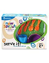 Learning Resources Lrnler3294 New Sprouts Role Play Dish Set, 24 Per Sticker