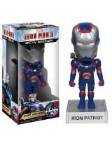 Iron Patriot ~6.5 Bobble Head Figure: 'Iron Man 3' Wacky Wobbler Series