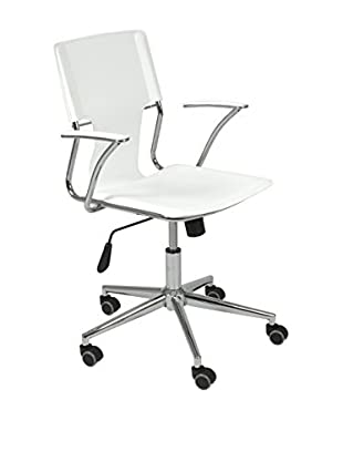 Euro Style Terry Office Chair, White