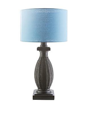 Surya Amani Outdoor Table Lamp, Blue/Black