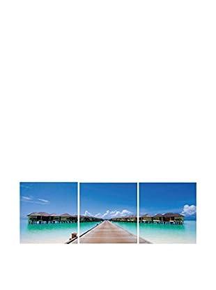 SuperStudio Leinwandbild 3 tlg. Set Caribbean Cabana