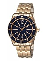 Azzaro Coastline Blue Dial Rose Gold Plated Stainless Steel Mens Watch Az2200.52Em.05E