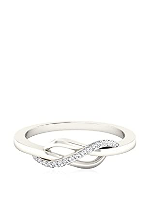 Vittoria Jewels Fine-Ring Vitorria Jewels 0.06 Cts Diamond Ring In 9Kt White Gold
