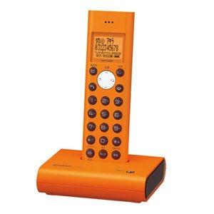 【クリックで詳細表示】SHARP デジタルコードレス電話機 子機1台タイプ オレンジ系 JD-S05CL-D