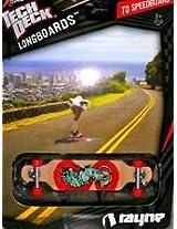 "2012 Tech Deck Longboard Rayne ""Tiger/Rat?? creature"" TD Speedboard #20055280"