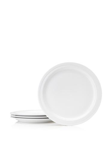 BergHOFF Set Of 4 Hotel Line Dinner Plates, White, 10''