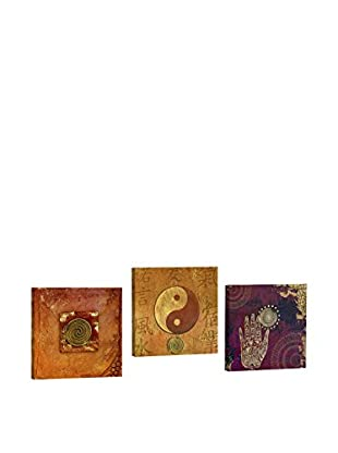 Dekorjinal Set, 3-teilig dekoratives Bild Ahm001 (mehrfarbig)