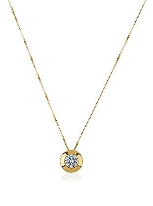 Gold & Diamonds Set Kette und Anhänger Sunflower 18 Karat (750) Gelbgold