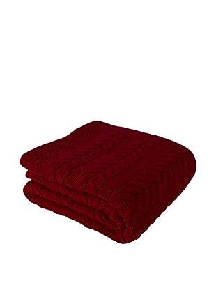 Bottega Tessile Plaid Rojo Oscuro 130 x 170 cm