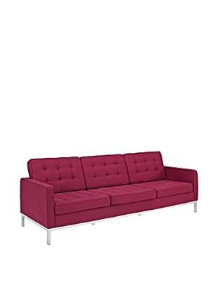 Modway Loft Sofa (Red Tweed Wool)