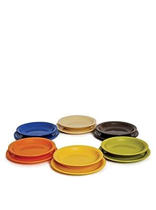 Servizio Tavola 12 Pezzi Multicolour