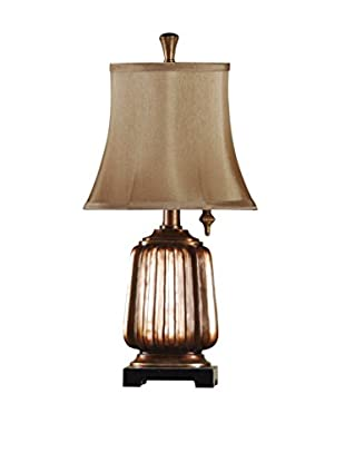 StyleCraft 1-Light Mini Lamp With Antiqued Finish, Copper