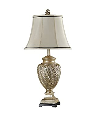 StyleCraft Royal Leaves 1-Light Table Lamp, Champagne
