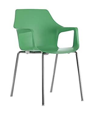 COLOS Stuhl 2er Set Vesper 2 grün/chrom