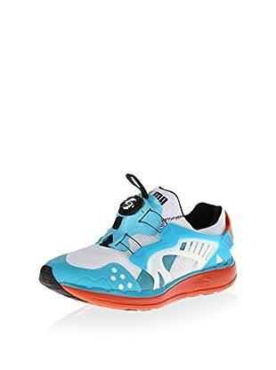 PUMA Men's Future Disc Lite Tech Sneaker (White/Tigerlily)