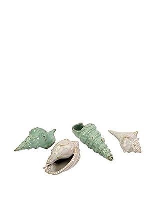 Set of 4 Ceramic Sea Shells