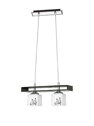 SEGNO Lámpara De Suspensión Sari Ii Acero/Transparente