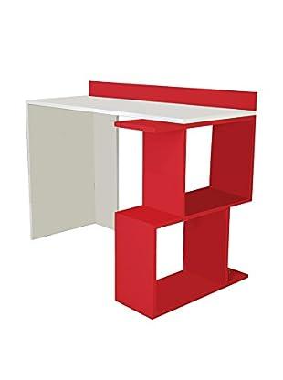 Minar Bücherregal Eses Con weiß/rot