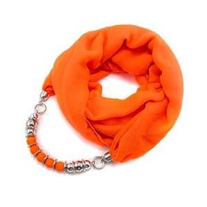 Alekhya Orange Abstract Snood