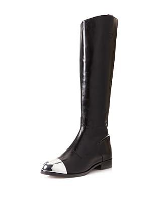 Sigerson Morrison Women's Kate Cap Toe Knee Boot (Black)