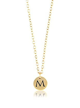 Ettika 18K Gold-Plated M Initial Charm Necklace