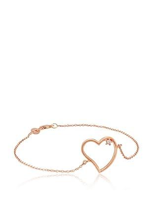Divas Diamond Pulsera Diamante Heart Oro Rosa