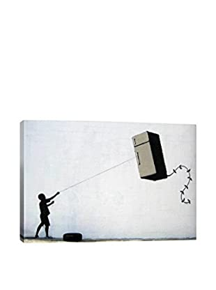 Banksy Fridge Kite Gallery Wrapped Canvas Print