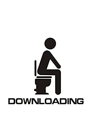 LO+DEMODA Vinilo Decorativo Wc Downloading