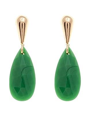 Egoo Pendientes Colección Fancy Oro / Verde