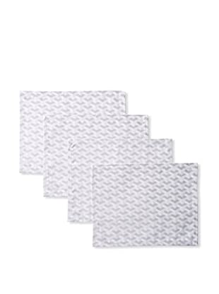 Garnier-Thiebaut Set of 4 Epsilon 3D Placemats, Silver