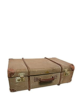 Vintage Leather Traveling Trunk II, Light Brown