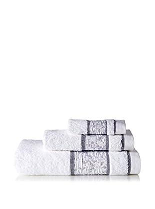 Belle Epoque 3-Piece Jacquard Mosaic Towel Set, White