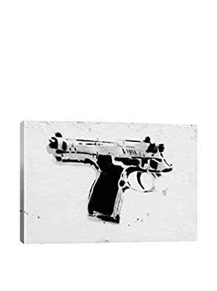 Banksy Gun Yourself Gallery Wrapped Canvas Print