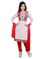 7 Colors Lifestyle White Coloured Cotton Unstitched Churidar Material - ADWDR2008HYBY
