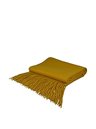 PÜR Cashmere Signature Blend Throw, Mineral Yellow