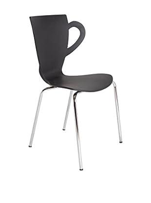 TOPAMBIENTES Stuhl 4er Set schwarz