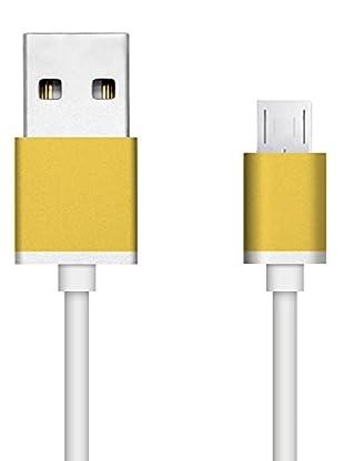 Unotec Cable Pro Microusb Dorado Aluminio