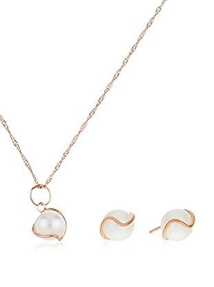 Córdoba Jewels Conjunto de cadena, colgante y pendientes plata de ley 925 milésimas bañada en oro