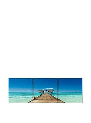 LO+DEMODA Leinwandbild 3 tlg. Set Caribe