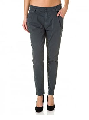 7 for all Mankind Chino Jea Cotton Drill Pleated Low Rise (Dunkelgrau)