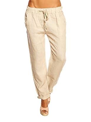 100% Linen Pantalone Diamand